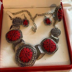 Tatreez thobe khalak jewelry falahi set